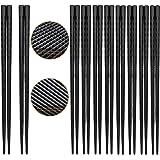 Alloy eetstokjes 10 paar Japanse Chopsticks herbruikbare eetstokjes servies set wasbaar voor vaatwasser (10 paar