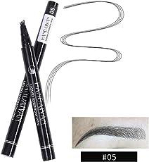 Eyebrow Tattoo Pen Fork Tip,Long-Lasting Waterproof Liquid Brow Eyebrow Pencil Brow Gel for Eyes Makeup