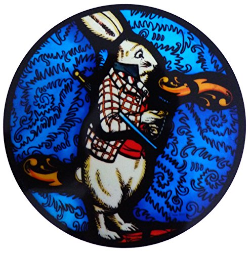 Gebeizt Art-glas-fenster (gebeizt Glas Fenster Art Statische Alice in Wonderland-The White Rabbit)