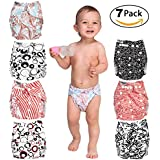 Cloth Diapers Covers For Baby - Set Of 7 Reusable Pocket Diaper All In One - For Boys And Girls - Suitable Unisex - Great Baby Shower Gift
