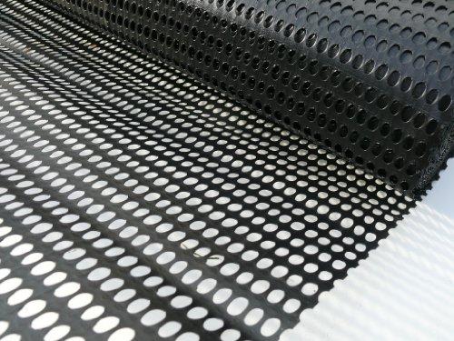Paravento staccionata da giardino 1m x 25m rivestimento nero in rete plastica Garden Fencing-raccolto Animal Shelter/protezione