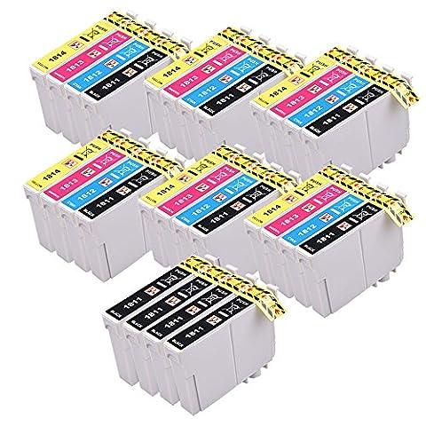 28 Cartouches d'encre PerfectPrint compatibles pour Epson XP-102 XP-202 XP-212 XP-215 XP-205 XP-225 XP-30 XP-302 XP-305 XP-312 XP-315 XP-322 XP-325 XP-402 XP-412 XP-415 XP-405 XP-405WH XP-422 XP-425