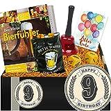 Zum 9. Geburtstag | Geschenk Bierparty | 9 Geburtstag Geschenke
