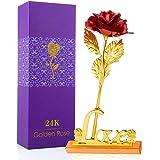 MOOKLIN ROAM 24K Rosa Fiore Artificiale, Placcato Oro Fiore Romantico Eterno con Sacchetto da Regalo per Valentine's Day Gior