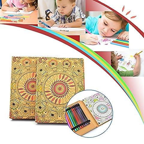 Livres Coloriage, Crayons de Couleur avec Livres Coloriages pour Adultes M·SY
