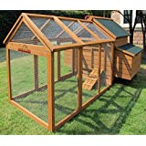 Chicken Coops Imperial Savoy Large Chicken Coop With 1.4m Run Suitable For up to 10 Birds Depending on Size With Double Nest Box - Easy Clean Leaning Tray