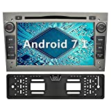 YINUO 7 Zoll 2 Din Android 7.1.1 Nougat 2GB RAM Quad Core Autoradio mit Bluetooth Moniceiver DVD GPS Navigation für OPEL Vauxhall Astra Antara Vectra Corsa Zafira Grau (Autoradio mit Kamera 4)