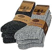 6 Paar Norweger Socken mit Wolle in Grau oder Anthrazit Wintersocken Herrensocken mit Polstersohle - AD220 - sockenkauf24