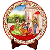 MUGHAL Painted Marble Plate