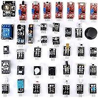 OUNONA Arduino Sensor Starter Kit 37 en 1 Arduino Módulo de Aprendizaje Compatible para Raspberry PIO R3 Mega2560 Nano