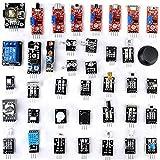 OUNONA 37 in 1 Sensor Starter Kit Kompatibel Lernmodul für Raspberry Pi UNO R3 Mega2560 Nano