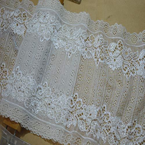 Laliva 1722605 Haarschmuck, 18 cm, Weiß, Netzstoff, Calico-Haarschmuck, elastisch, Spitze -