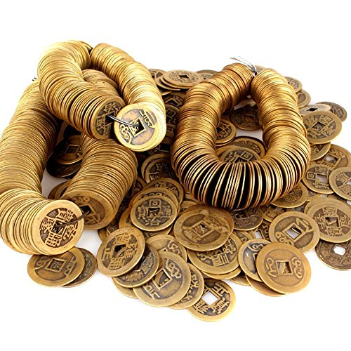 hugestore 50pcs autentico Ancient Chino Fortune monedas Feng Shui monedas para riqueza y exito