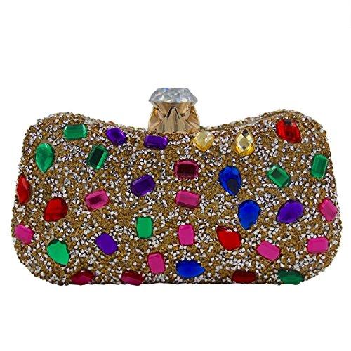 Frauen-Luxus-Abendtasche Kristall-Diamant-Griff Tasche A