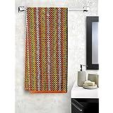 Trident Prisma Abstract 450 GSM Cotton Bath Towel Set - Multicolour