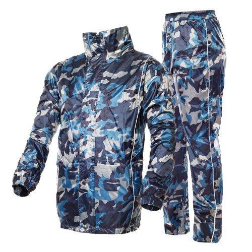 Outdoor Peak Motorrad Regenmantel Camouflage Fahrrad Regenmantel regen Hosen und Jacke anzug für Herren (175~180 cm 80 ~89kg)