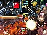 Justice League-Batman-Wolverine-Le Flash Man-Iron Man-Faite à la Main par L'Artiste de Dessin Pastel d'Eugène sur Toile de Taille 40,6x 50,8cm