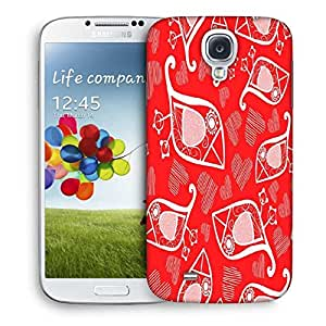 Snoogg White Birds Red Pattern Designer Protective Phone Back Case Cover For Samsung Galaxy S4