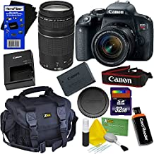 Canon Eos Rebel T7i Digital SLR Camera With EF-S 18-55 Is STM & EF 75-300mm III Zoom Lenses (International Version) + 32GB Accessory Kit W/HeroFiber Ultra Gentle Cleaning Cloth
