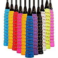 Cosy-TT Paquete de 1/2/10 Sobregrip Racket Overgrip Antideslizante Tenis Bádminton Raqueta Grip, Paquete Anti Slip Perforado Absorbente estupendo Tenis Badminton Sobregrip