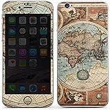 Apple iPhone 6s Case Skin Sticker aus Vinyl-Folie Aufkleber Vintage Weltkarte Karte Map