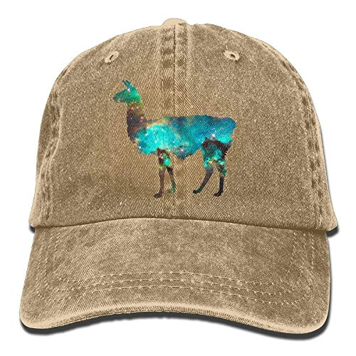 HOP caps Llama Lama Glama Galaxy Vintage Washed Dyed Cotton Twill Low Profile Adjustable Baseball Cap Natural Washed Cotton Twill Cap