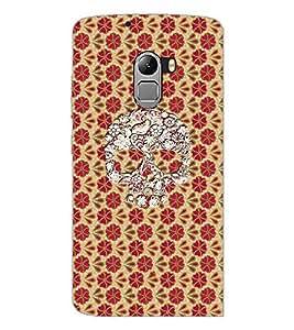 PrintDhaba Skull D-4358 Back Case Cover for LENOVO VIBE X3 LITE (Multi-Coloured)