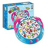 Romote Angelspiel elektronische Fisch Brettspiel Pädagogische Angeln Spielzeug mit Musik Großes Geschenk für Kinder Kinder 3 4 5 Jahre Alt