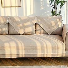 Copridivano in cotone,Copridivani lino antiscivolo multiuso divano componibile mobili protector decorativo di stile nordico-A 70x150cm(28x59inch)