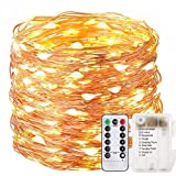200 LED 66ft wasserdichte Fernbedienung Batterie String Garten Lichter für Garten, Haus, Weihnachtsbaum, Party, Plaza Warm White