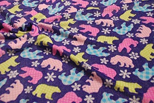 CRS Fur Fabrics Doppelseitig Superweicher cuddlesoft Fleece Material-Polar Bear Lila Lila Polar-fleece