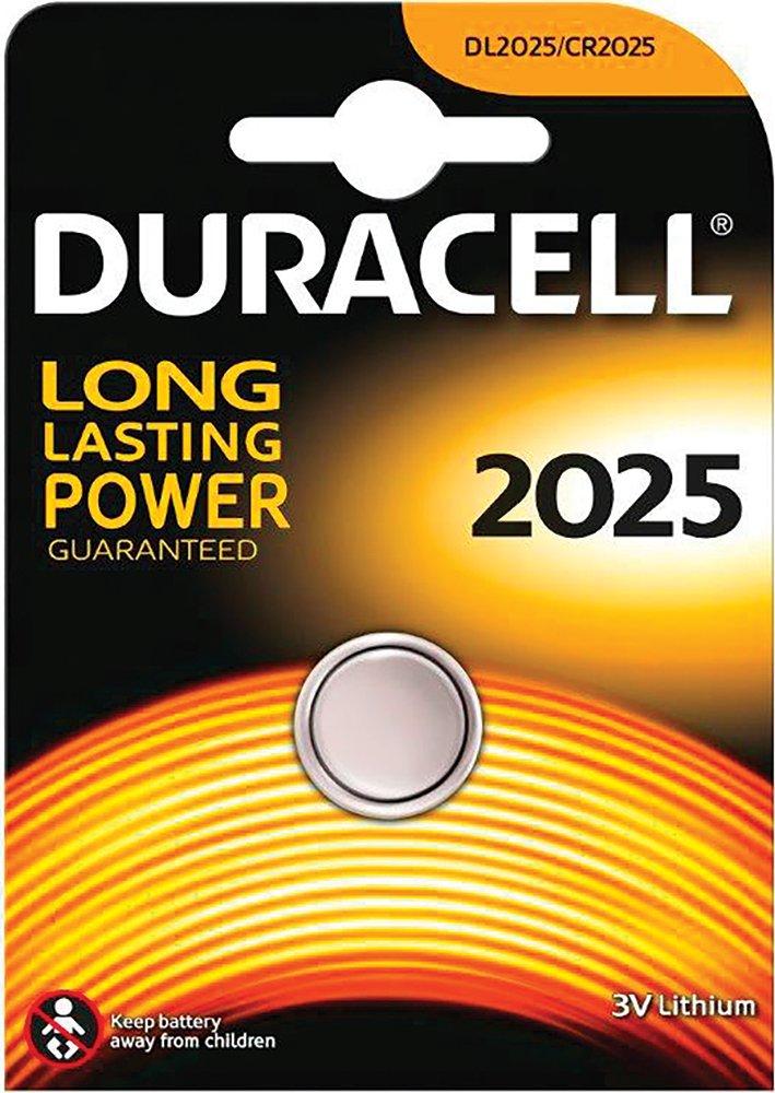 Duracell DL2025 – Blister 1 Pila Boton 3V-165 Mah-Dl.2025