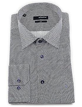 Seidensticker Herren Langarm Hemd UNO Regular Fit Kent mehrfarbig strukturiert 131750.17