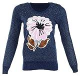 Miss Maria Girls Woollen Sweater (Blue, ...