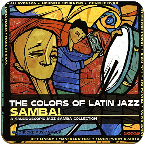 The Colors of Latin Jazz Samba - Various Artists Album Art - Hardboard Coasters - Pack of 4 - Face Album