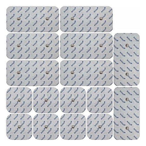 Axion - set de 16 électrodes 8 x 10*5 cm + 8 x 5*5 cm - uniquement compatible avec les appareils Compex - connecteurs snap