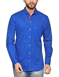 PP Shirts Men Blue Colored Casual Shirt