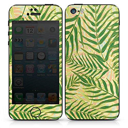Apple iPhone SE Case Skin Sticker aus Vinyl-Folie Aufkleber Tropische Dschungel Blätter DesignSkins® glänzend