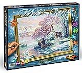 Noris Spiele 609130700 - Malen nach Zahlen - Winter am Bergsee, 40 x 50 cm