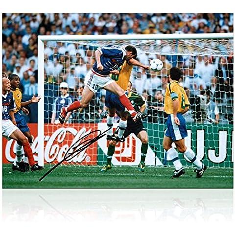 Zinedine Zidane Francia Firmado Foto: Meta Copa del Mundo