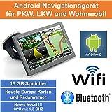 17,8cm 7' Zoll,Android Navigationsgerät,Navigation,WIFI,Neuste EU Karten,Radarwarner,Tablet PC,Internet,Wohnmobil,LKW,PKW,16GB Speicher,HD,AV-IN,Bluetooth,Kostenlose Kartenupdate,GPS
