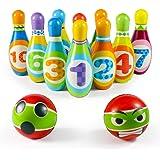 Bolos Infantiles Juego de Bolo con 10 Alfileres 2 Bolas Juego Deportivo Interior Exterior Educativos Regalos para Niños Niñas