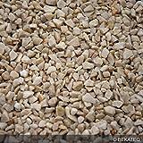 Steinteppich Marmorkies für 2qm | BEKATEQ BK-600EP Bodenbelag Bodenbeschichtung (25KG Marmorkies + 1,5KG Bindemittel, Hellelfenbein - Botticino)