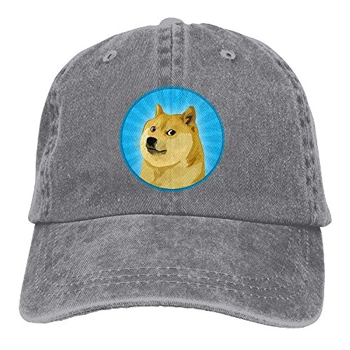Wuciyu Cool Doge Washed Unisex Adjustable Baseball Cap Dad Hat
