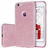 MILPROX iPhone 6s Plus Hülle, Glitzer-Schutzhülle schützende Hülle, kompatibel mit iPhone 6 Plus-Pink