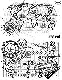 "Silikonstempel ""Travel"" 14 x 18 cm"