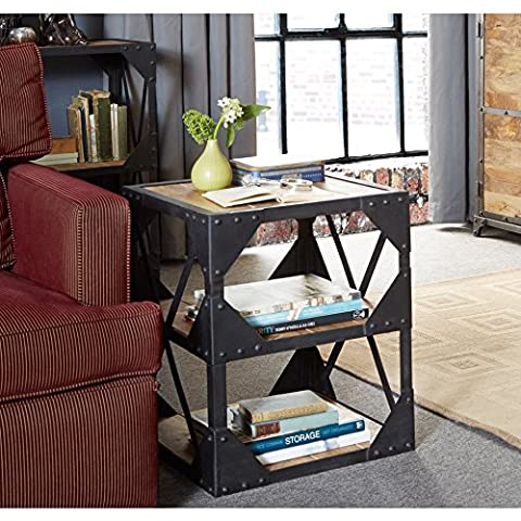 Bramley Industrial Furniture Side Table / Multi-Media Cabinet