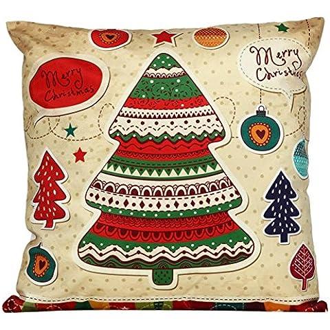 Federa Kingko® Albero di Natale stampato federa Divano Vita tiro Cuscino Home Decor Moda federa 45cm*45cm