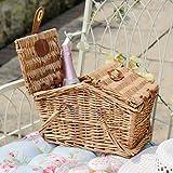 Kleine klassische Natur Weide Rattan Englisch behindern Picknickkorb. Ideal für einen Sommer Day Out to the Beach, Parks, Land oder als Geschenk. H 21x W20x l 31,5cm; H...