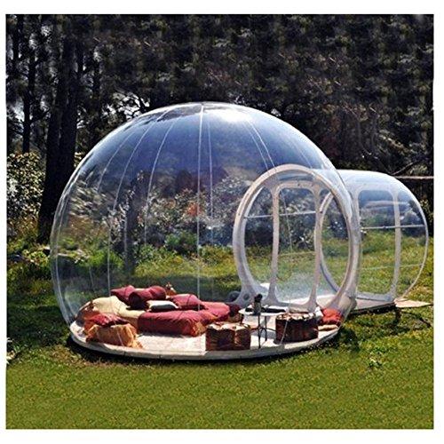 Wly&Home Aufblasbares Blasen-Zelt-Haus, Familien-Camping-Hinterhof-Transparente Luft-Hauben-Zelte...